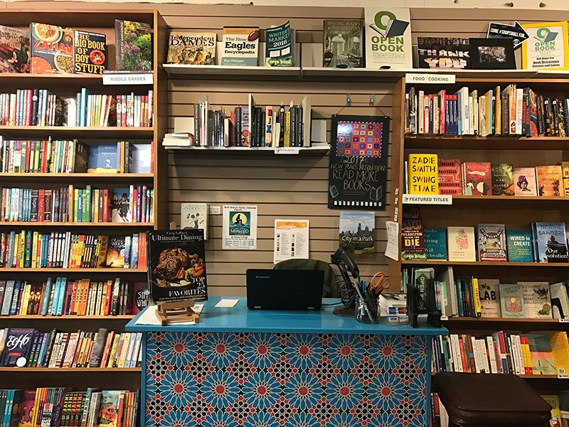 Independent Bookstore Elkins Park front desk